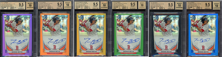 So Many Mookie Betts Bowman Chrome Autographed Rookie Cards Up For